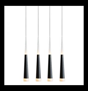 Lampa wisząca Brina 4 LED AZ0955 Azzardo czarna oprawa w stylu design