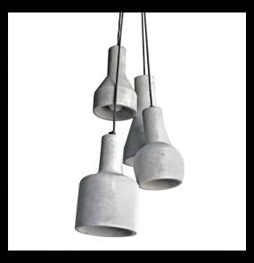 ŻARÓWKA LED GRATIS! Lampa wisząca Karina AZ1030 AZzardo betonowa oprawa w nowoczesnym stylu