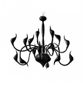 Lampa wisząca Snake 2 AZ1048 AZzardo dekoracyjna oprawa w kolorze czarnym