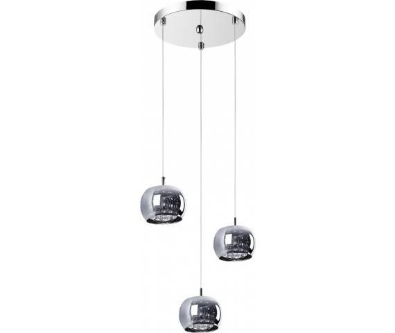 ŻARÓWKI LED GRATIS! Lampa wisząca Crystal P0076-03M-B5FZ Zuma Line potrójna oprawa w stylu kryształowym