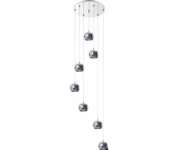 ŻARÓWKI LED GRATIS! Lampa wisząca Crystal P0076-07M-B5FZ Zuma Line wieloelementowa nieregularna oprawa w nowoczesnym stylu