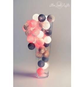 Kolorowe kulki kompozycja - Grey & Pink