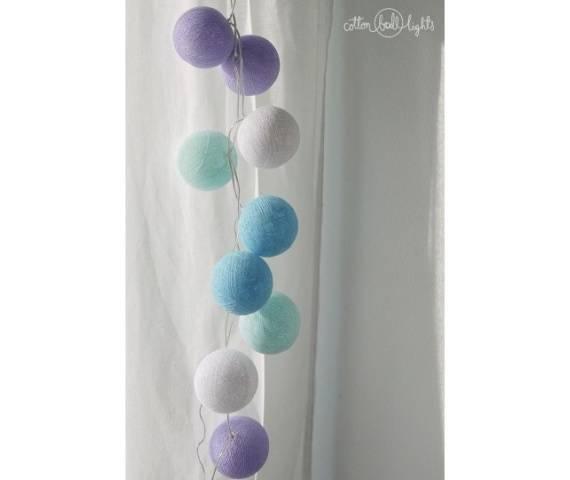 Kolorowe kulki kompozycja - Baby lavender