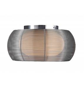 ŻARÓWKI LED GRATIS! Plafon Tango MX1104-2L srebrny Zuma Line nowoczesna oprawa sufitowa w kolorze srebrnym