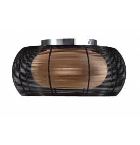 ŻARÓWKI LED GRATIS! Plafon Tango MX1104-2L czarny Zuma Line nowoczesna oprawa sufitowa w kolorze czarnym