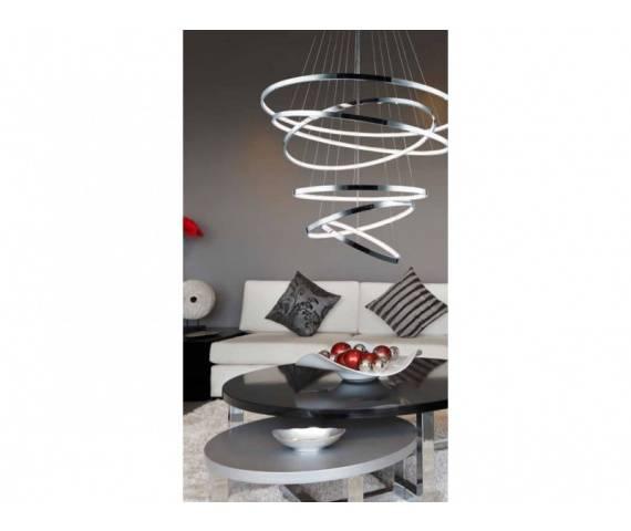 Lampa wisząca Wheel AZ1280 AZzardo nowoczesna oprawa w kolorze chromu