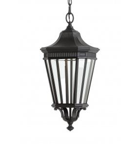Lampa wisząca Cotswold Lane FE/COTSLN8/M BK Feiss dekoracyjna oprawa w kolorze czarnym