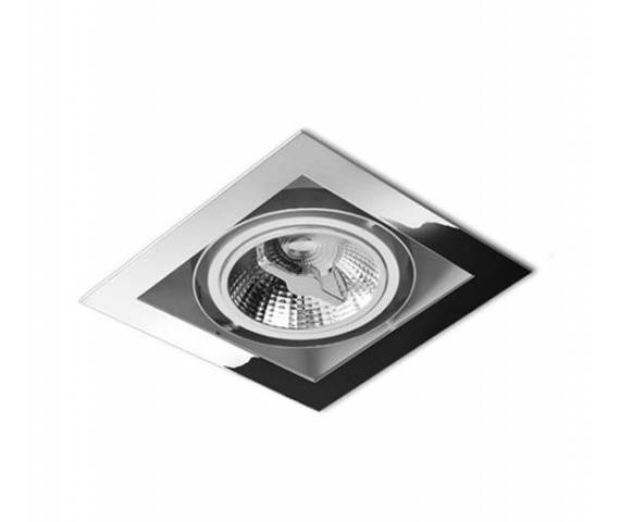OSTATNIE SZTUKI! Oczko halogenowe Squares 111x1 12V Alu cod.30511-01 aluminium  Aquaform