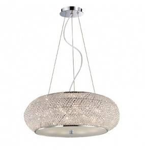 Lampa wisząca Pasha SP10 082196 Ideal Lux kryształowa oprawa w kolorze chromu