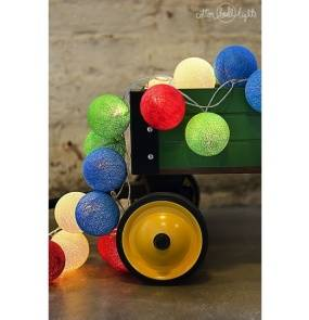 Kolorowe kulki LED kompozycja - Colorful