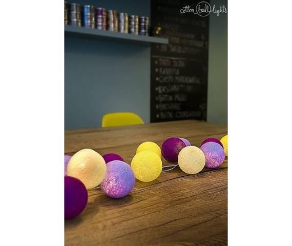 Kolorowe kulki LED kompozycja - Crocuses