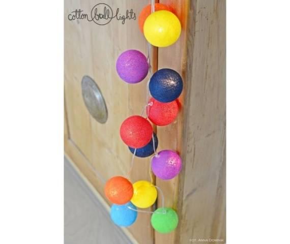 Kolorowe kulki LED kompozycja - Rainbow