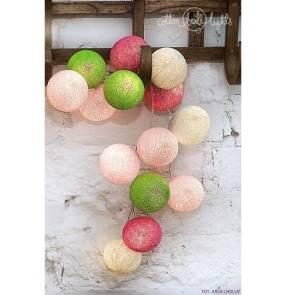 Kolorowe kulki LED kompozycja - Spring
