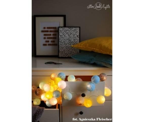 Kolorowe kulki LED kompozycja - Sunny Turquoise
