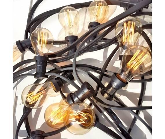 Girlanda ogrodowa 10m GL10X10CZ Kolorowe kable