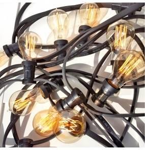 Girlanda ogrodowa 20m GL20X20CZ Kolorowe kable