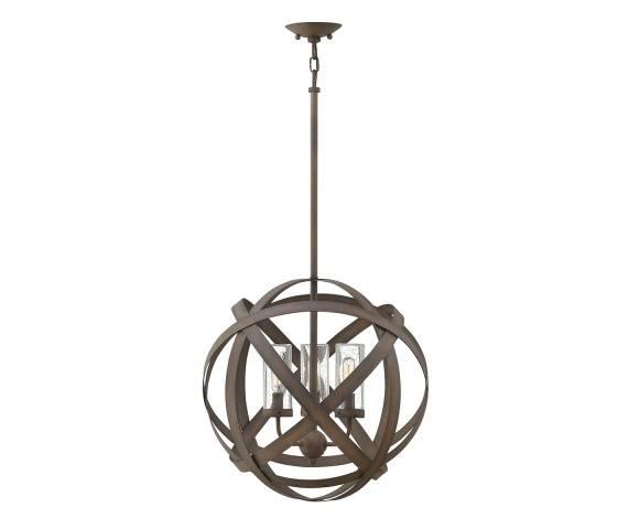 Lampa wisząca zewnętrzna Carson HK/CARSON/3P Hinkley nowoczesna oprawa w dekoracyjnym stylu