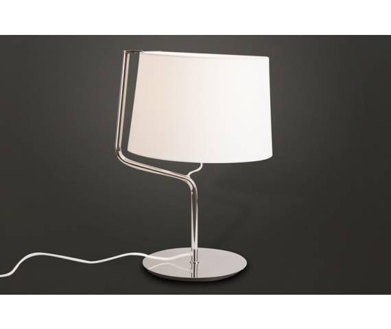 Lampa stołowa CHICAGO CR T0030 Maxlight abażur nowoczesna hotelowa energooszczędna lampka stołowa