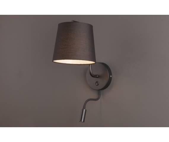 Kinkiet CHICAGO II BK + LED W0197 Maxlight abażur nowoczesny hotelowy energooszczędny