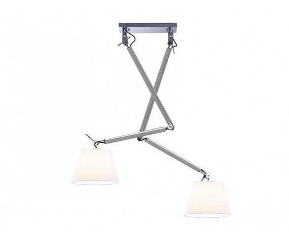ŻARÓWKA LED GRATIS! Lampa wisząca ZYTA 2 S PENDANT ALU MD2300-2S ALU/WH AZzardo