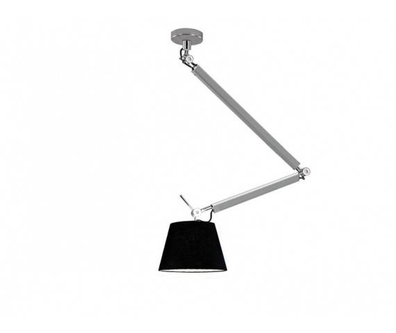 ŻARÓWKA LED GRATIS! Lampa wisząca ZYTA M PENDANT ALU MD2300-M ALU/BK AZzardo