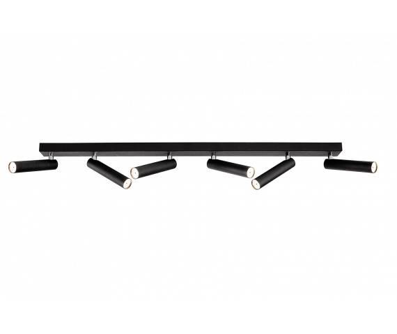 Listwa sufitowa Roll 6 50713602 oprawa czarna Kaspa