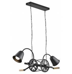 Lampa wisząca Bike 10213202 oprawa czarna Kaspa