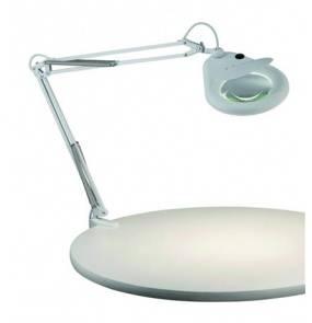 Lampa biurkowa Fagernes 100852 Markslojd biała lampa z powiększającym szkłem