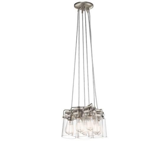 Lampa wisząca Brinley KL/BRINLEY6 NI Kichler niklowana oprawa w nowoczesnym stylu