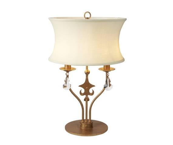 Lampa stołowa Windsor TL GP Elstead Lighting klasyczna oprawa w kolorze złotej patyny