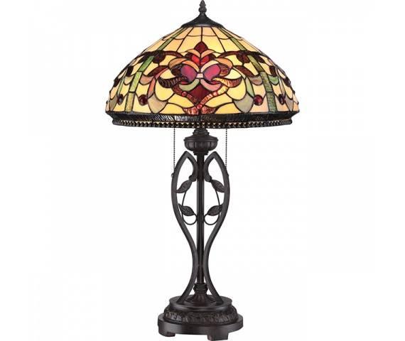 Lampa stołowa Kings Pointe QZ/KINGS POINTE oprawa stojąca brązowa Quoizel