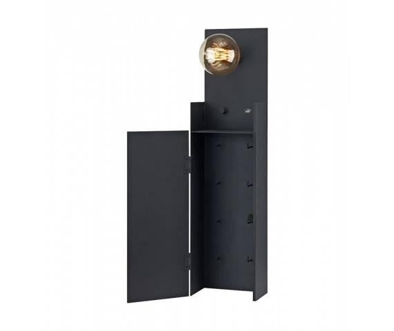 Kinkiet Combo 106850 Markslojd funkcjonalna oprawa na ścianę z USB w czarnym kolorze