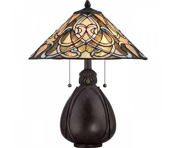 Lampa stołowa India QZ/INDIA/TL oprawa brązowa Quoizel