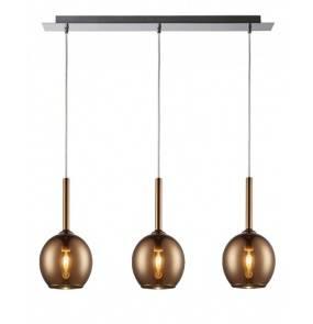 Lampa wisząca Monic Copper MD1629-3A Zuma Line nowoczesna oprawa wisząca w kolorze miedzianym