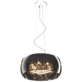 Lampa wisząca Crystal P0076-06X-F4FZ Zuma Line srebrna oprawa w stylu nowoczesnym