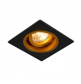 Spot Chuck DL Square 92706  Zuma Line minimalistyczna oprawa w kolorze czarno-złotym