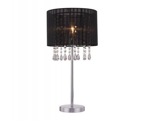 Lampa stołowa Leta RLT93350-1B Zuma Line czarna oprawa w kryształowym stylu