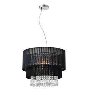 Lampa wisząca Leta RLD93350-L1B Zuma Line czarna oprawa w kryształowym stylu