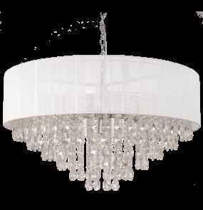 Lampa wisząca Singapore P09376WH COSMOLight biała oprawa w stylu kryształowym
