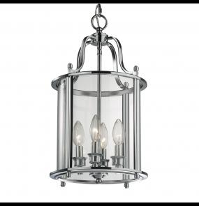 Lampa wisząca New York P04550CH COSMOLight srebrna oprawa w stylu nowoczesnym