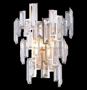 Kinkiet Petersburg W02141CP COSMOLight oprawa w stylu kryształowym