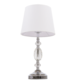 Lampa stołowa Monaco T01885WH COSMOLight biała oprawa w stylu kryształowym