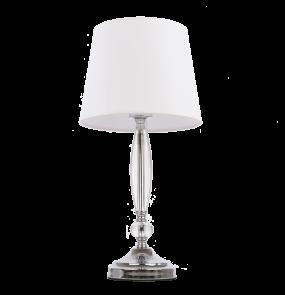 Lampa stołowa Monaco T01878WH COSMOLight biała oprawa w stylu kryształowym
