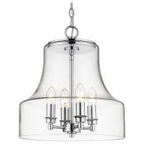 Lampa wisząca Prague P04458CH COSMOLight transparentna oprawa w stylu design