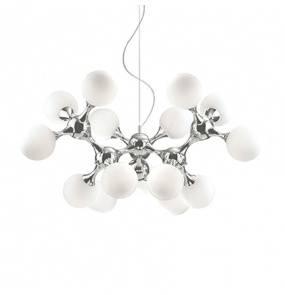 Lampa wisząca Nodi SP15 082073 Ideal Lux chromowana oprawa w stylu design