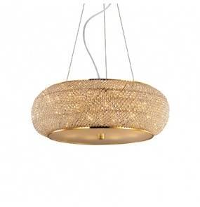 Lampa wisząca Pasha SP10 082257 Ideal Lux kryształowa oprawa w kolorze złota