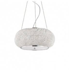 Lampa wisząca Pasha SP6 082158 Ideal Lux kryształowa oprawa w stylu klasycznym