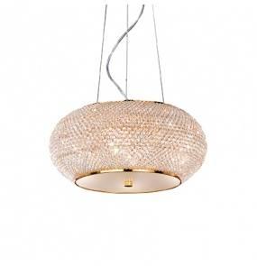 Lampa wisząca Pasha SP6 082172 Ideal Lux kryształowa oprawa w stylu klasycznym