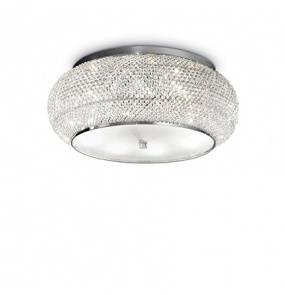 Plafon Pasha PL10 Ideal Lux kryształowa oprawa w stylu klasycznym