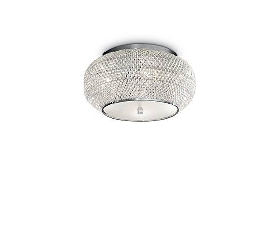 Plafon Pasha PL6 100784 Ideal Lux kryształowa oprawa w stylu klasycznym